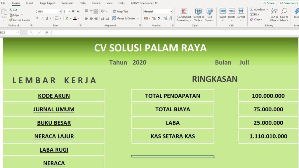 Aplikasi Akuntansi Excel Gratis tis tis